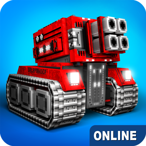 Blocky Cars – tank wars, online games 7.6.3  (Mod)