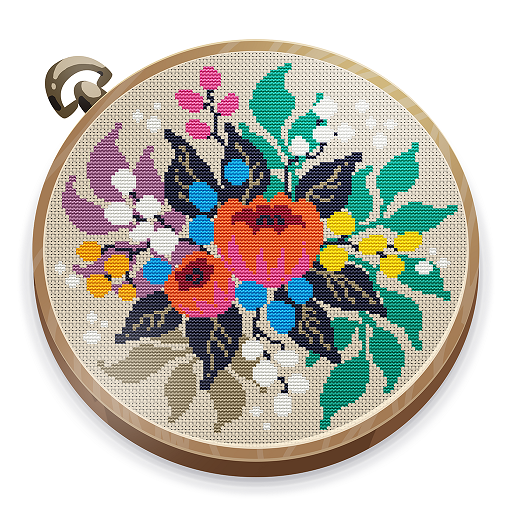 Cross Stitch Club — Color by Numbers with a Hoop 1.4.29 (Mod)