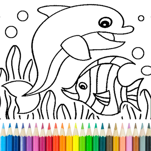 Dolphin and fish coloring book 14.0.4 (Mod)