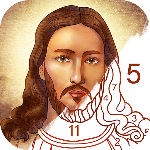 Bible Coloring – Paint by Number, Free Bible Games 2.15.1  (Mod)
