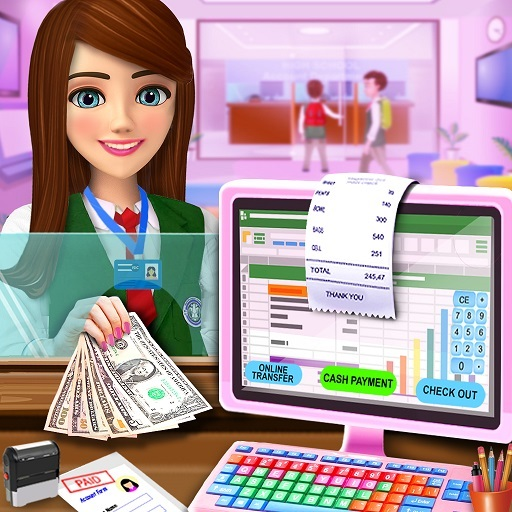 High School Cash Register: Cashier Games For Girls  (Mod)