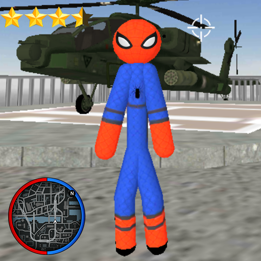 Stickman Spider Rope Hero Gangstar Crime 1.2 (Mod)