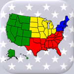 50 US States Map, Capitals & Flags – American Quiz 3.3.0  (Mod)