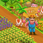 Farm Village City Market & Day Village Farm Game 1.20 (Mod)