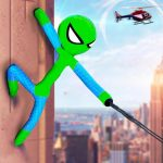 Flying Stickman Rope Hero Grand City Crime 2.1 (Mod)