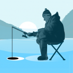 Ice fishing games for free. Fisherman simulator. 1.52 (Mod)