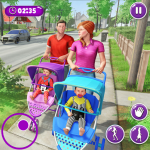 Virtual Mother New Baby Twins Family Simulator 2.1.7  (Mod)