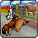 Wild Horse Zoo Transport Truck Simulator Game 2018 1.5 (Mod)