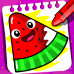 Fruits Coloring book & Food Drawing book Kids Free 1.4 (Mod)