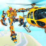 Helicopter Robot Transform War – Air robot games 1.0.16 (Mod)