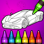 Learn Coloring & Drawing Car Games for Kids  9.0 (Mod)