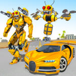 Bee Robot Car Transformation Game: Robot Car Games  (Mod) 1.30
