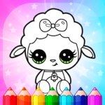 Flower Magic Color-kids coloring book with animals 3.8   (Mod)