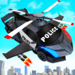 Flying Police Helicopter Car Transform Robot Games 30 (Mod)