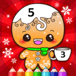 Happy Kids Christmas Coloring Book By Numbers 2.3  (Mod)