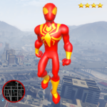 Iron Stickman Spider Rope Hero Gangstar City  (Mod) 1.3