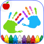 Kids Finger Painting Coloring  (Mod) 22