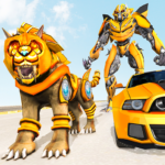 Lion Robot Car Transforming Games: Robot Shooting  (Mod) 1.8
