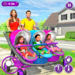 New Mother Baby Triplets Family Simulator  (Mod) 1.1.6