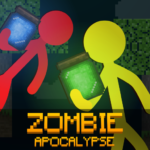 Stickman vs Multicraft: Zombie Apocalypse  (Mod) 1.0.1