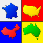 Maps of All Countries in the World: Geography Quiz  (Mod)