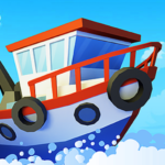 Fish idle: hooked tycoon. Your own fishing boat  (Mod)