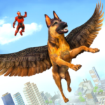 Flying Super Hero Dog City Animal Rescue  (Mod)