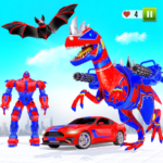 Flying Dino Transform Robot: Dinosaur Robot Games  (Mod)