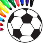 Football coloring book game  (Mod)