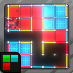 Dots and Boxes (Neon) 80s Style Cyber Game Squares (Mod)