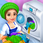 Laundry Shop Clothes Washing Game  (Mod)