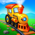 Train Games for Kids: station & railway building  (Mod)